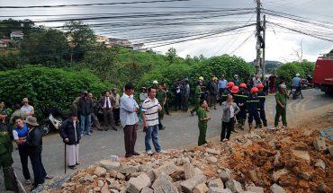 Sát bờ taly 1 lúc thi công làm người chết 1 người bị thương ở Đà Lạt