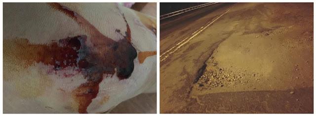 Đường Đà Lạt thi công ẩu  phụ vụ Festival hoa gây tai nạn cho nhiều người đi đường