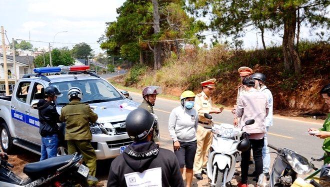 Lâm Đồng :Xứ lý vị phạm giao thông ở các xã, huyện